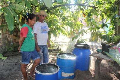 Sistema de Tratamento e reuso de água instalado na casa do agricultor Tim, no P.A. Ouro Verde.